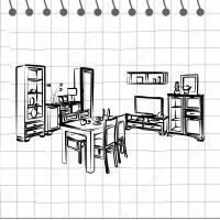Обеденно-гостиные модульные