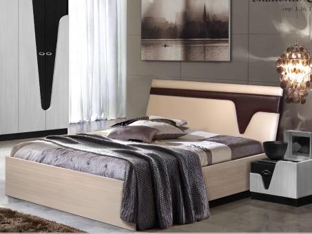 Кровать Арья  венге, дуб молочній