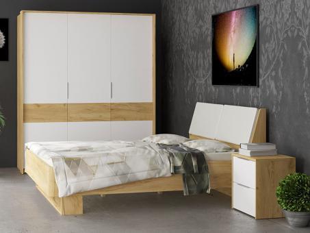 Спальня AVANTI - дуб крафт золотой, белая платина (1)