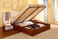 Короб кровати с  металлическим каркасом ламелями и подъемным механизмом