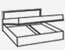 Кровать 1600 (подъемная) ВИОЛА(VIOLA)