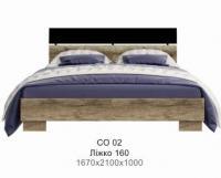 Кровать 1600 вклад ДСП СО 2 Соломон
