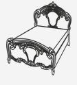 Кровать 1800 РЕДЖИНА ГОЛД
