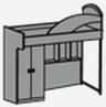 Кровать-шкаф с лестницей АРЛЕКИНО