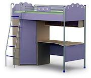 Кровать+стол+шкаф SI-16-2 серия SILVIA