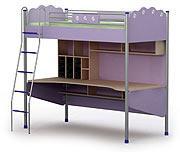 Кровать+стол SI-16-1 серия SILVIA