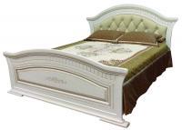 Кровать 2Сп с мягким изголовьем НИКОЛЬ (патина)