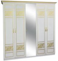 Шкаф 5ДЗ (1 зеркало) ПОЛИНА НОВА