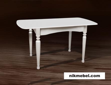 Стол обеденный раскладной ПОЛО - белый