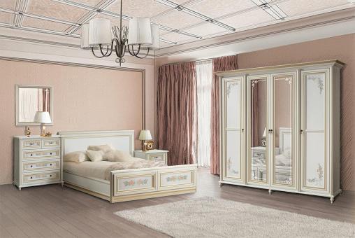 Спальня вариант №1 ПРИНЦЕССА - белый, золото
