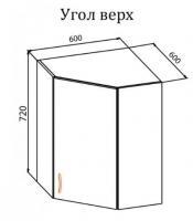 Секция верхняя угловая-витрина ОЛЯ