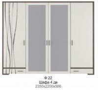 Шкаф 4 д Ф22 Флора