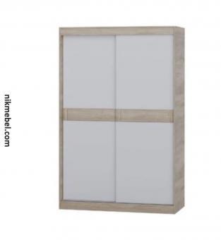 Шкаф-купе 1400 СОНАТА - сонома, белый (1)