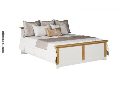Кровать 2Сп ВАЛЕРИО - сосна водевиль, дуб каменный