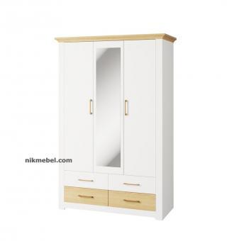 Шкаф 3Д 4Ш ВАЛЕРИО - сосна водевиль, дуб каменный