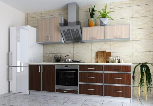 Кухня 2.5 ВИНТАЖ - риголетто светлый, риголетто темный